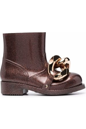 J.W.Anderson Women Ankle Boots - Chain-detail glitter rubber ankle boots