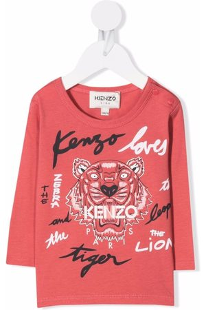 Kenzo Baby Long Sleeve - Logo lettering T-shirt