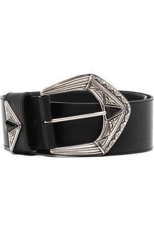 Etro Women Belts - Wide engraved buckle belt