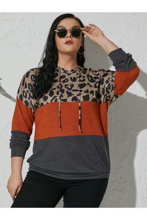YOINS Plus Size Drawstring Hooded Design Long Sleeves Sweatshirt