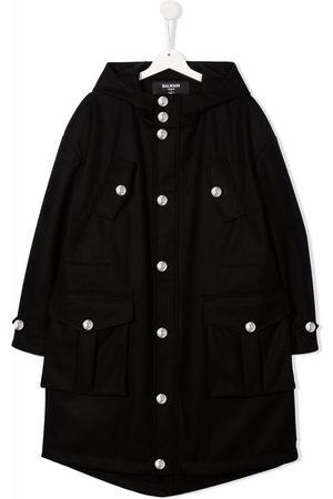 Balmain TEEN hooded parka coat