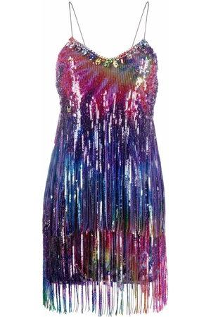 Philipp Plein Women Party Dresses - Tie-dye print fringed dress