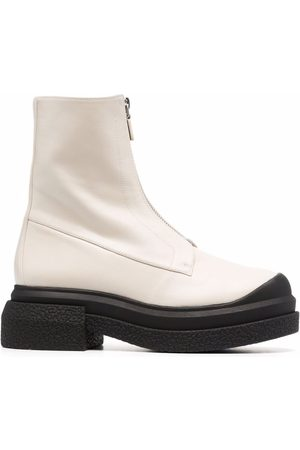 Stuart Weitzman Women Ankle Boots - Charli zip leather ankle boots