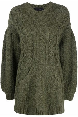 Simone Rocha Cable-knit signature sculpted sleeve jumper