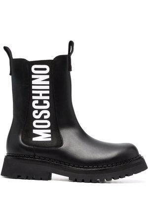 Moschino Women Ankle Boots - Logo-print ankle boots