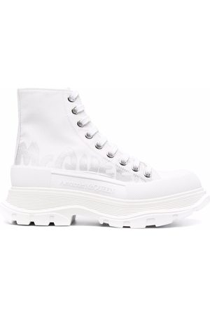Alexander McQueen High-top leather sneakers