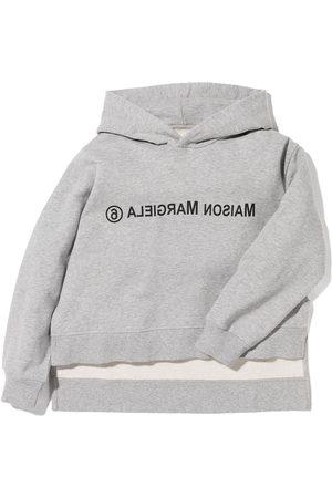 MM6 MAISON MARGIELA KIDS Inverted logo print hoodie
