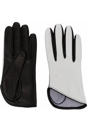Manokhi Women Gloves - Two-tone leather gloves