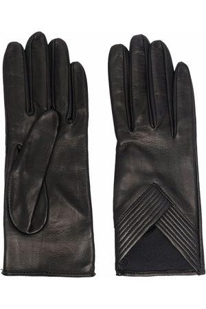 Manokhi Women Gloves - Ribbed-detail leather gloves