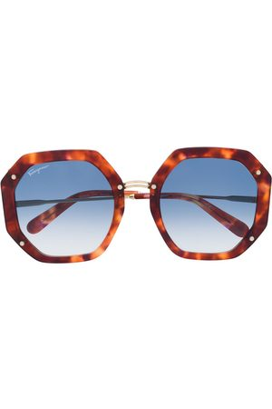 Salvatore Ferragamo Octagonal frame sunglasses