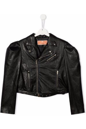Elisabetta Franchi La Mia Bambina TEEN faux-leather biker jacket