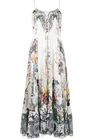 Camilla Floral-print spaghetti-strap dress