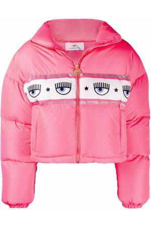 Chiara Ferragni Women Hoodies - Logo-print zip-up puffer jacket