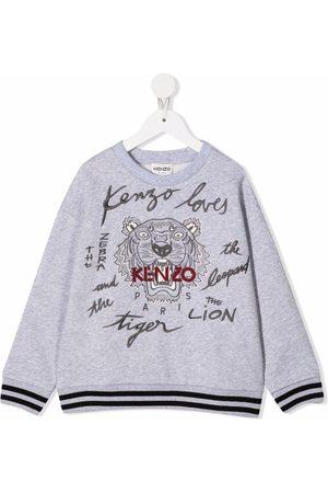 Kenzo Boys Sweatshirts - Tiger head print sweatshirt