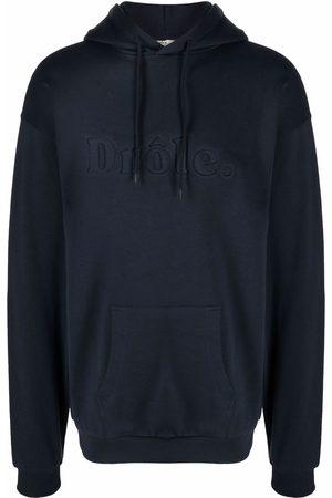 Drôle de Monsieur Embossed-logo cotton hoodie