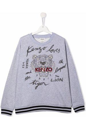 Kenzo Boys Long Sleeve - TEEN tiger head print T-shirt