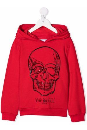 Philipp Plein Boys Hoodies - Skull-embellished hoodie