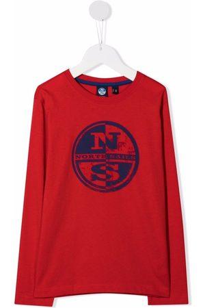 North Sails Boys Long Sleeve - Logo-print T-shirt
