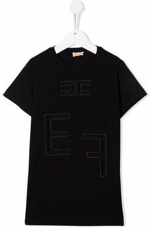 Elisabetta Franchi La Mia Bambina Girls Short Sleeve - Embroidered-logo T-shirt