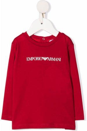 Emporio Armani Baby Long Sleeve - Logo-print T-shirt
