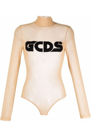 GCDS Embroidered-logo roll-neck top