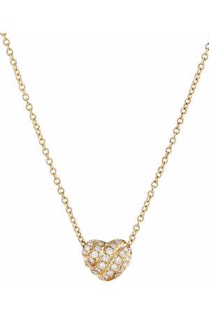 David Yurman 18kt yellow heart diamond pendant necklace