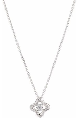 David Yurman 18kt white gold Venetian Quatrefoil diamond necklace