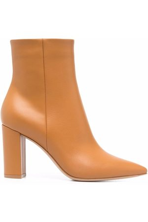 Gianvito Rossi Leather block-heel ankle boots