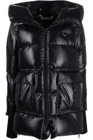 Philipp Plein Iconic hooded puffer jacket
