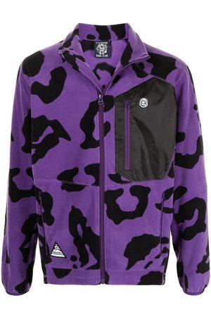 Billionaire Boys Club Leopard-print zip-up lightweight jacket