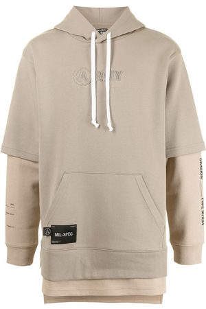 izzue Layered effect hoodie