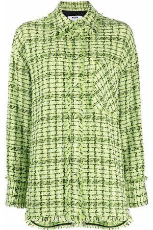 MSGM Tweed shirt jacket