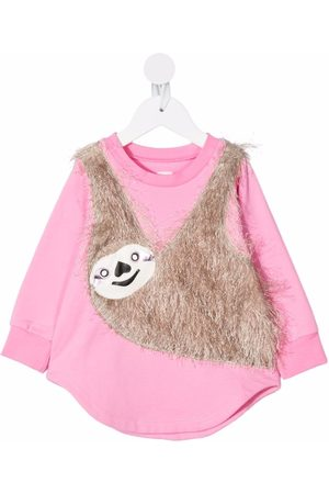 WAUW CAPOW by BANGBANG Sloth-appliquéd jersey dress
