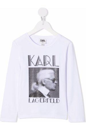 Karl Lagerfeld Kids Picture print T-shirt
