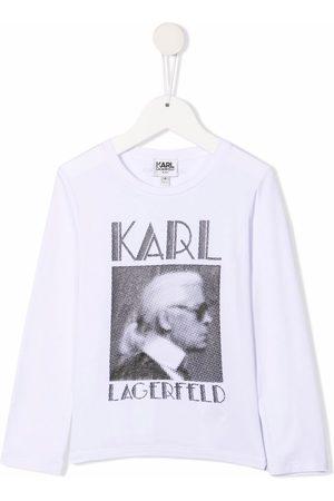 Karl Lagerfeld Kids Logo print T-shirt