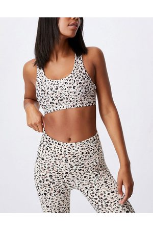 Cotton On Active workout bralette in leopard print