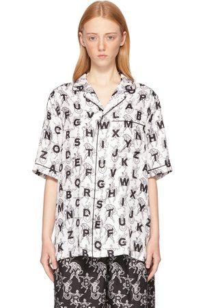 Burberry SSENSE Exclusive White Mythical Alphabet Silk Short Sleeve Shirt