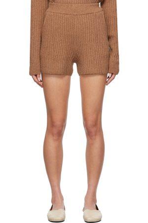 rag & bone Tan Rib Knit Maxine Shorts