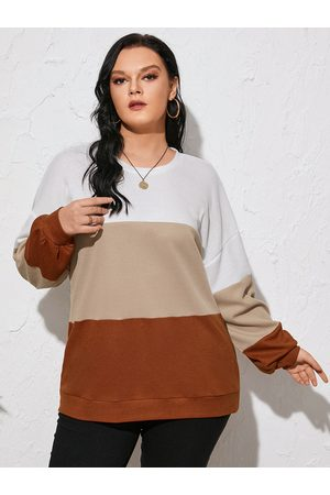 YOINS Plus Size Color Block Long Sleeves Knitwear