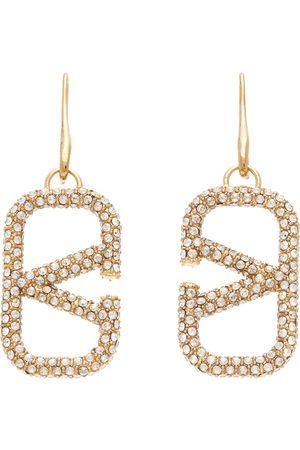 Valentino Garavani VLogo Crystal Pendant Earrings