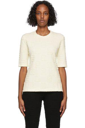 AMBUSH Women T-shirts - Yellow Monogram Fitted T-Shirt