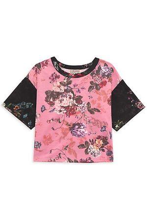 Marchesa Little Girl's & Girl's Floral Print Boxy T-Shirt