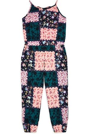 Marchesa Girls Jumpsuits - Little Girl's & Girl's Patchwork Print Jumpsuit