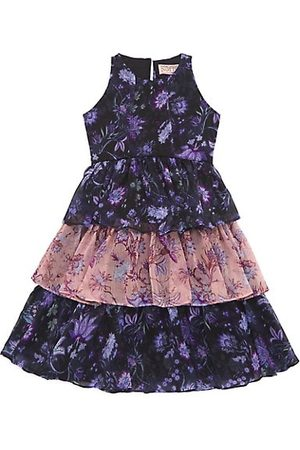 Marchesa Little Girl's & Girl's Floral Print Chiffon Tiered Dress
