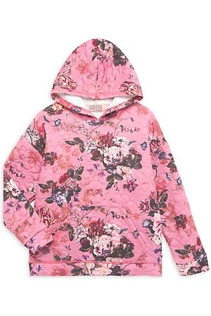 Marchesa Girls Hoodies - Little Girl's & Girl's Floral Print Quilted Hoodie