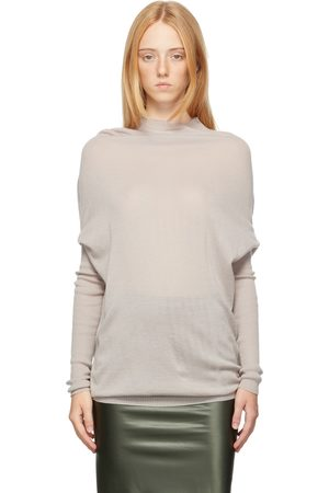 Rick Owens Off-White Virgin Wool Crater Sweater