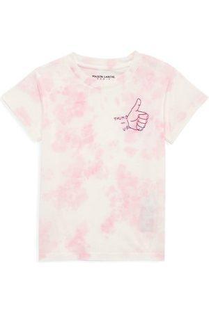 """Maison Labiche Little Girl's & Girl's """"Thumbs Up"""" Tie-Dye T-Shirt"""
