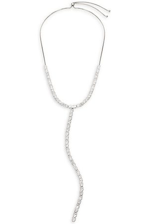 THEIA Hestia 14K White-Gold-Plated & Cubic Zirconia Y Necklace