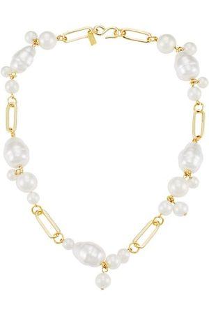 Kenneth Jay Lane Goldtone Pearl Cluster Necklace