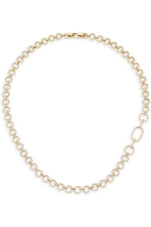 THEIA 14K Gold-Plated & Cubic Zirconia Circle-Link Necklace